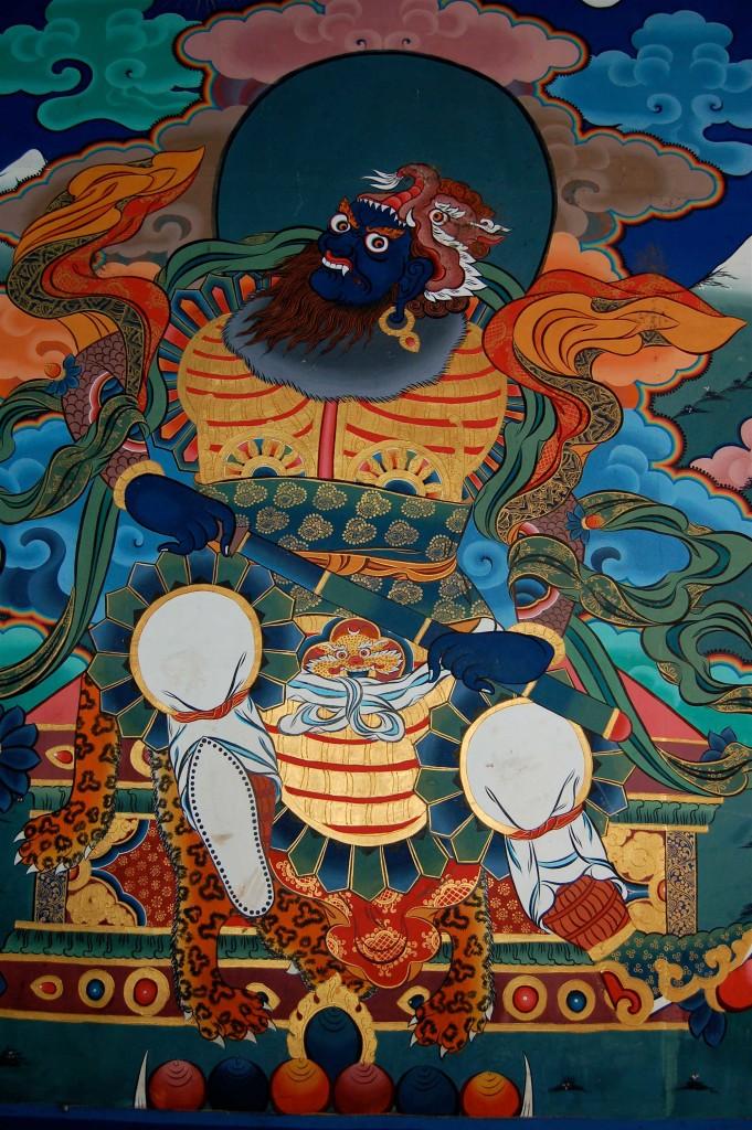 Paro Dzong detail, Bhutan