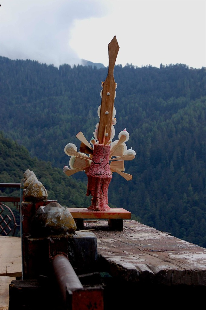 MonasteryDetail nr Thimphu Bhutan