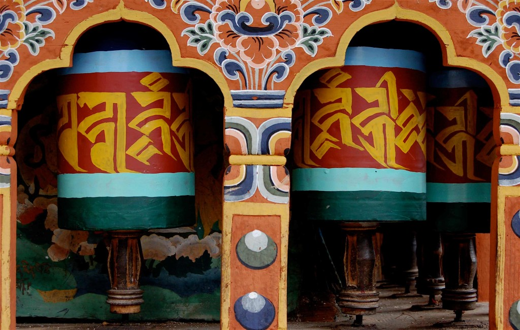 Prayer Wheels, Monastery nr Thimphu Bhutan