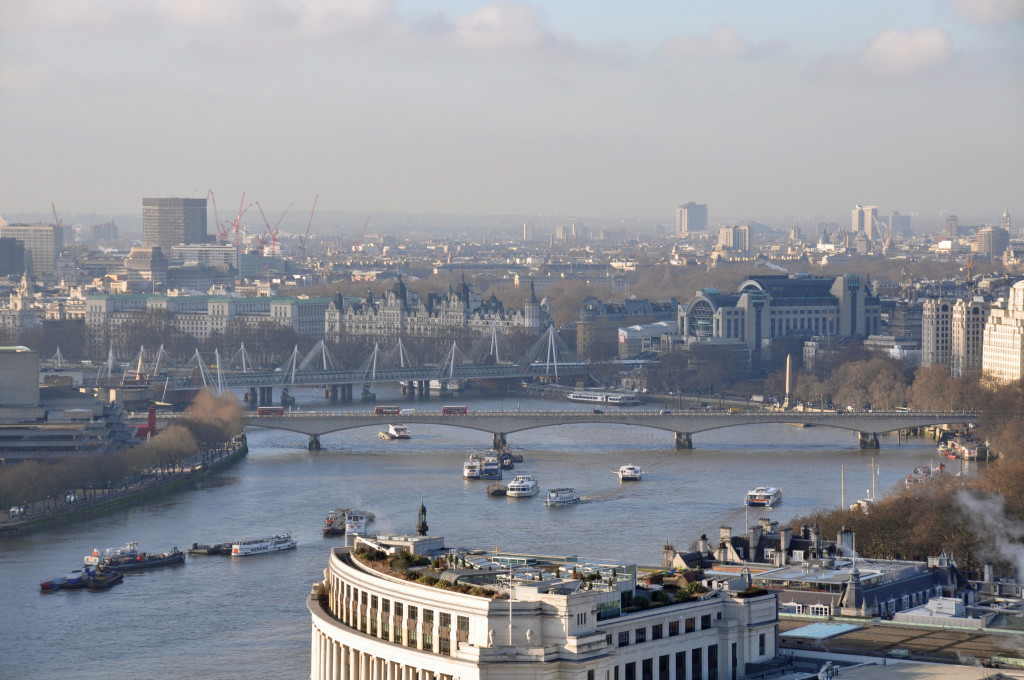 View west along Thames from St Pauls