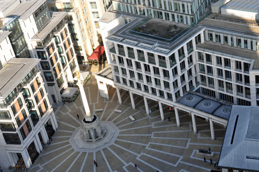 Paternoster Square view from St Pauls