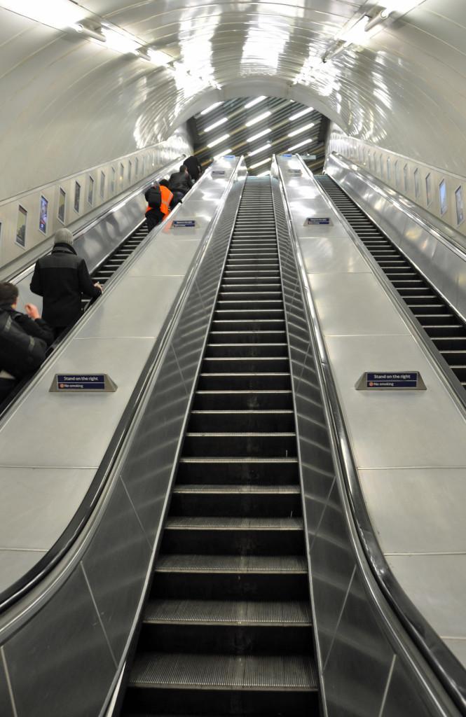 Escalators, Charing Cross