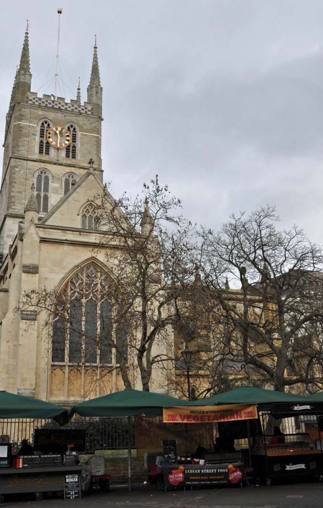 Southwark Cathedral from Borough Market
