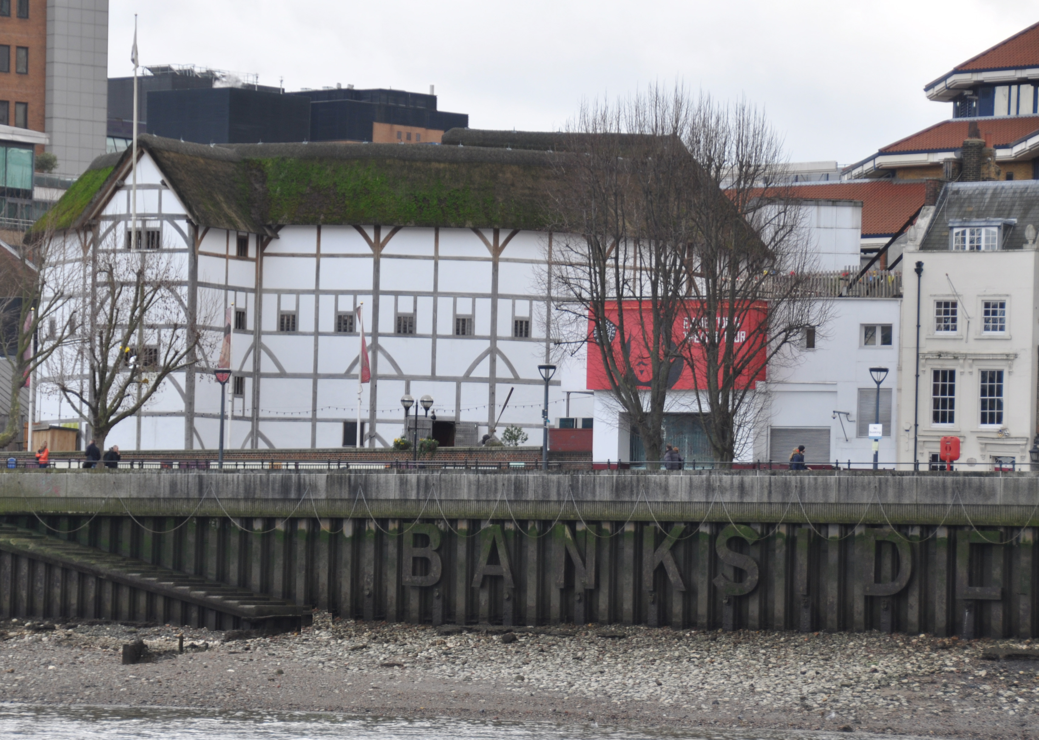 Globe Theatre from Thames