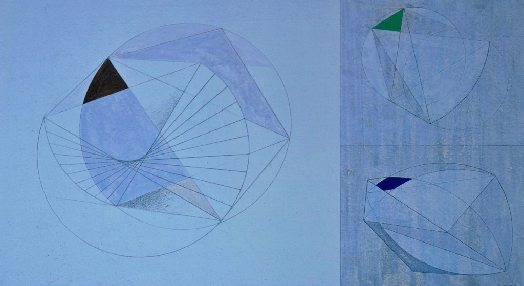 Hepworth: Drawing for 'Sculpture with Colour'