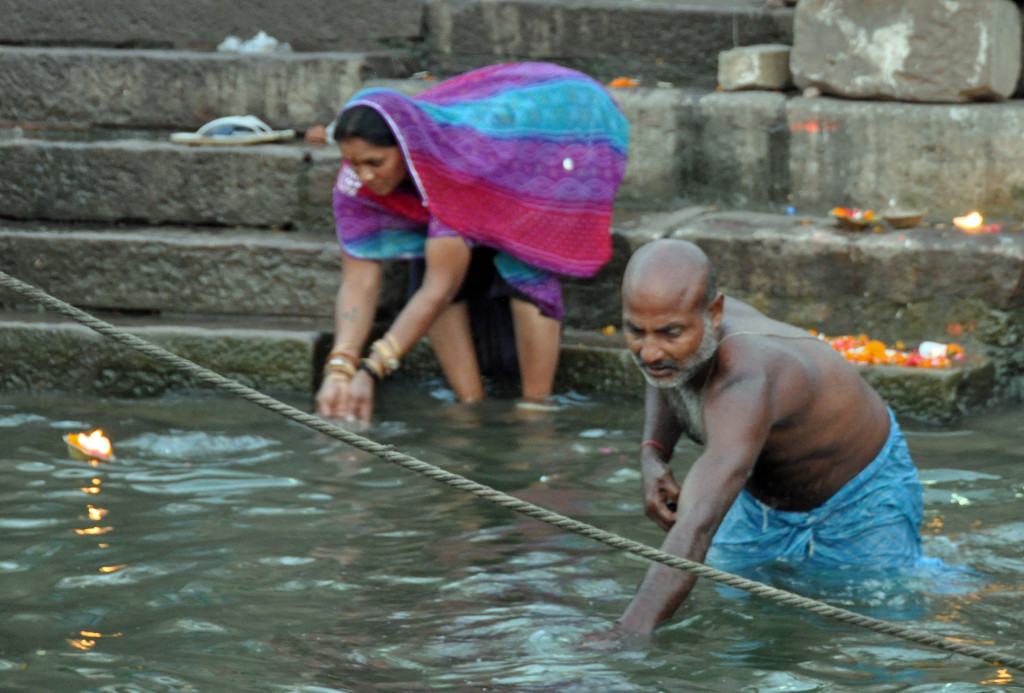 Varanasi: Taking the water