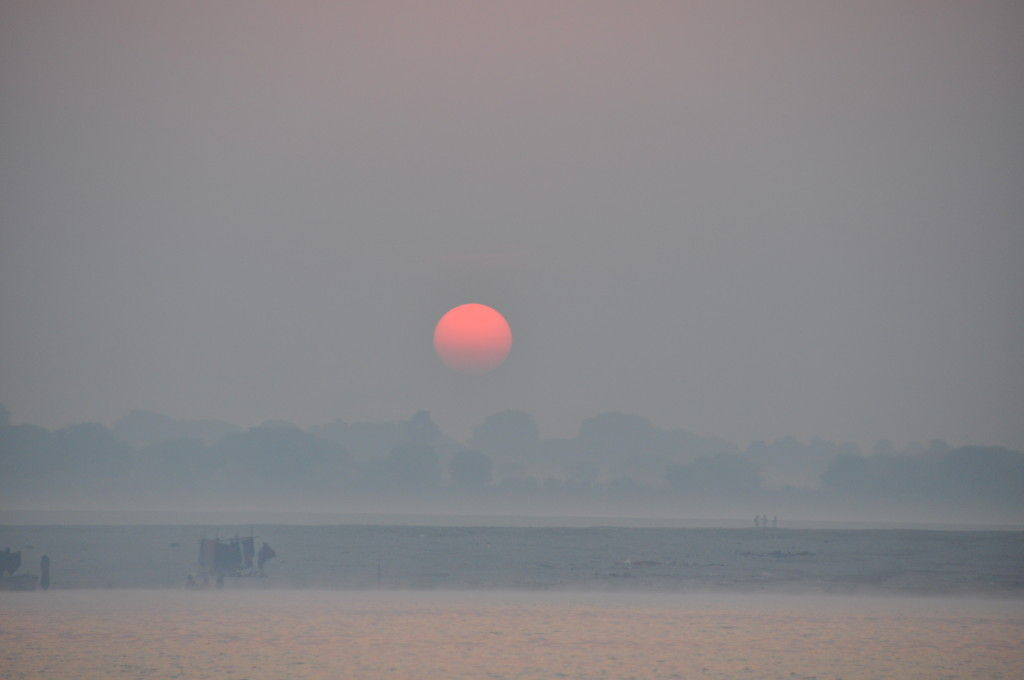 Sunrise from the Ganges