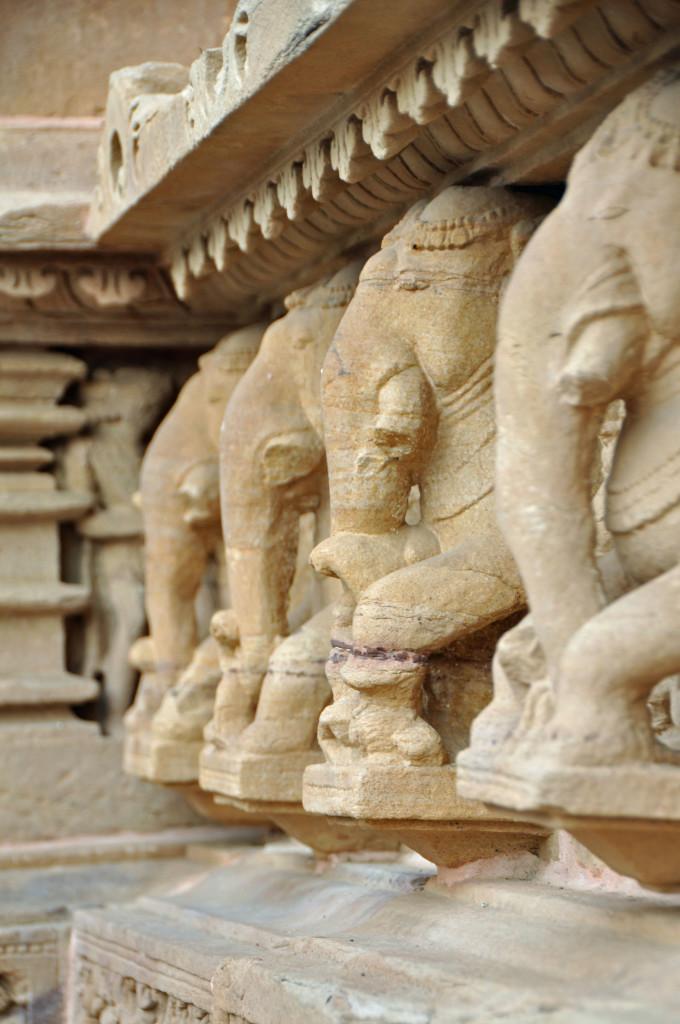 Elephants holding up Lakshmana Temple, Khajuraho