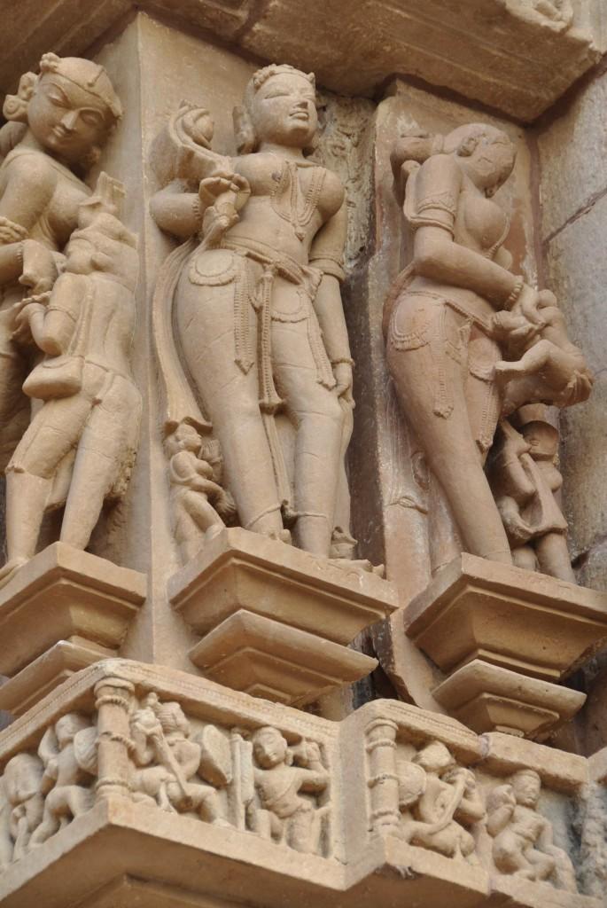 Lakshmana temple, Mother & Child, Reflective Lady, Khajuraho