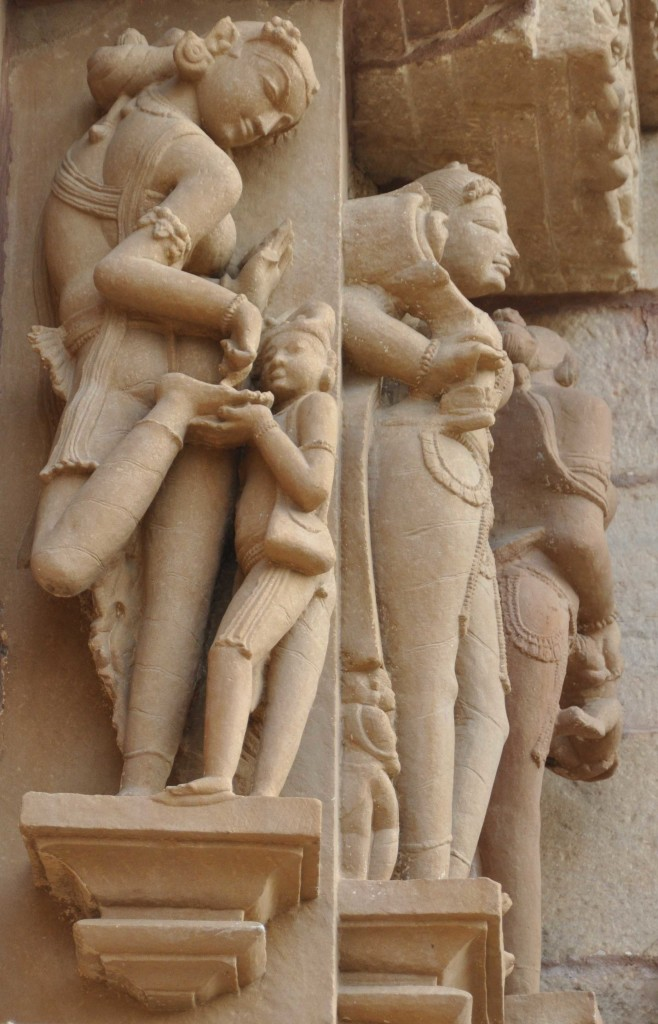 Pulling a thorn, Lakshmana temple, Khajuraho