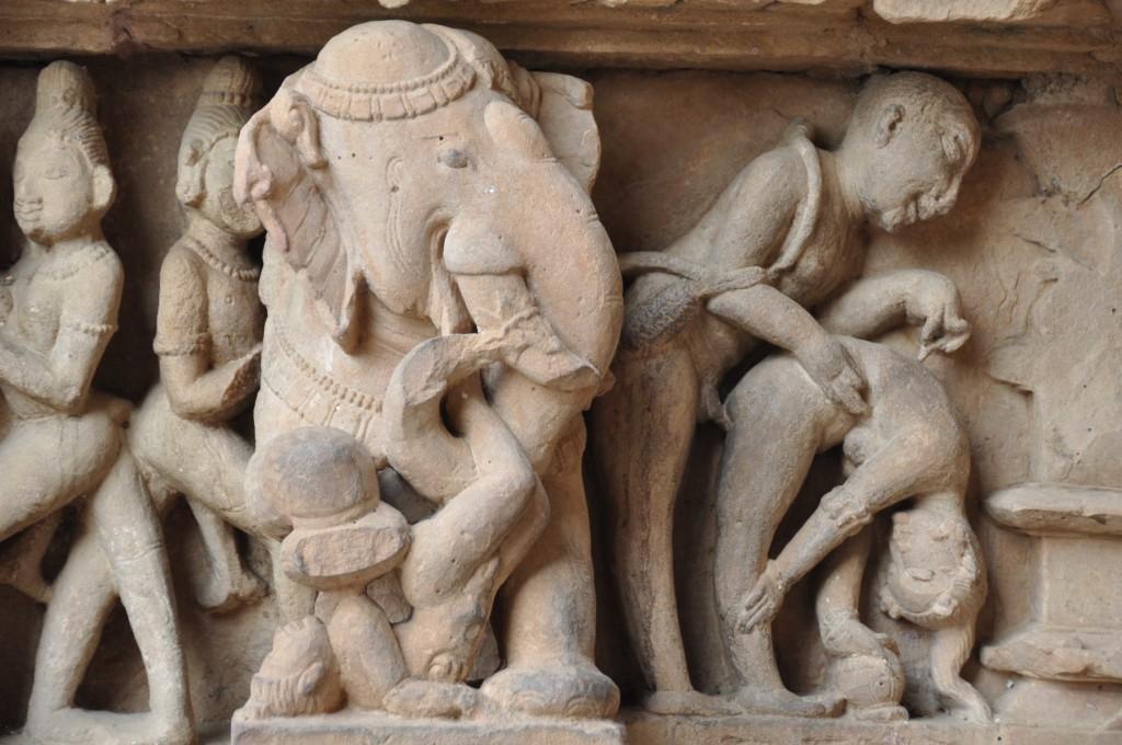 Elephant Watching, Lakshmana temple, Khajuraho