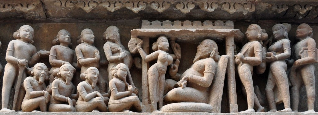 Class, Lakshmana temple, Khajuraho