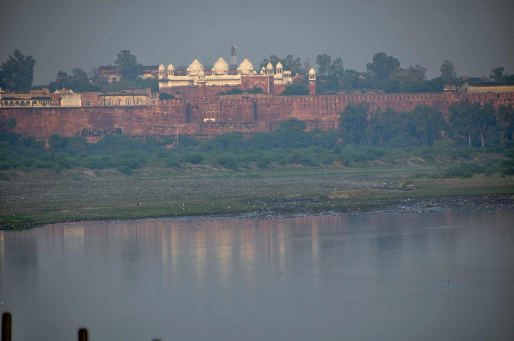 Agra Fort Viewed from te Taj Mahal