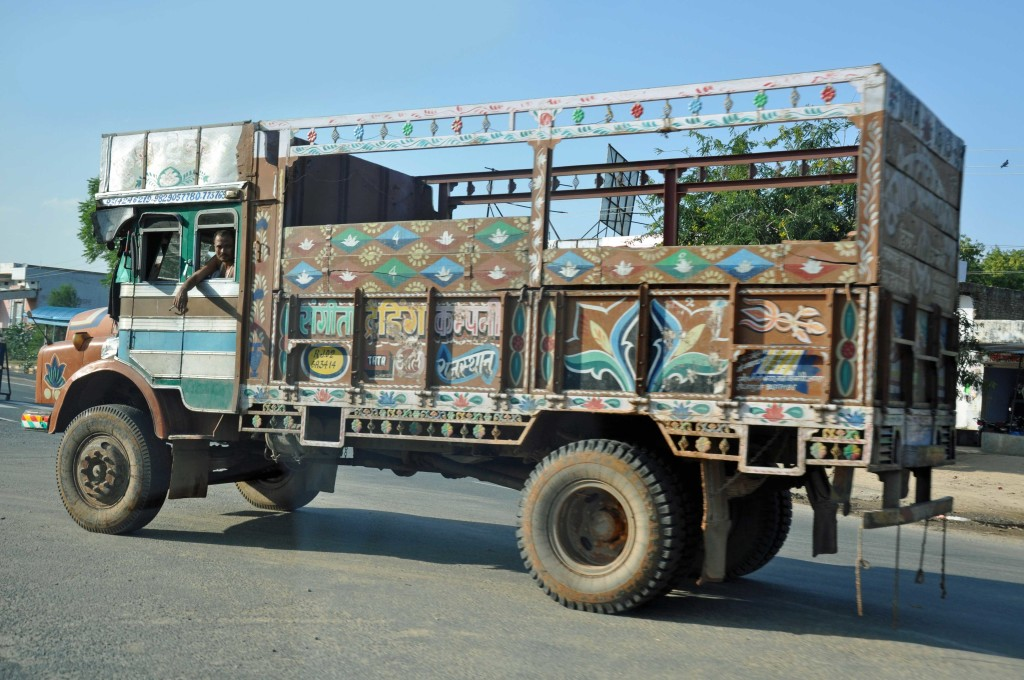 Lorries on the way to jaipur